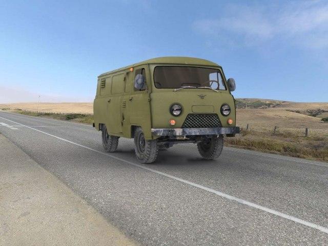 uaz van 3d model