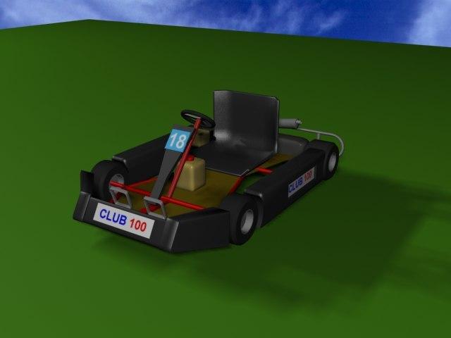 3d model kart raced