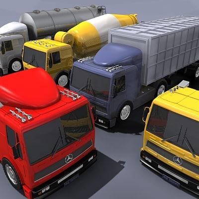 3d truck hd model