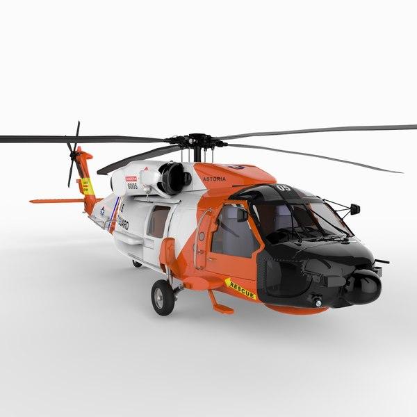 helicopter chopper 3d model