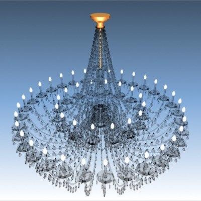 3d old chandelier