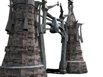castle gate fantasy 3d ma