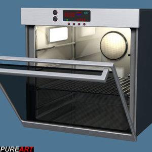 ovens kitchen v1 3d model