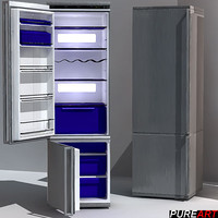 3d refrigerators kitchen v1 model
