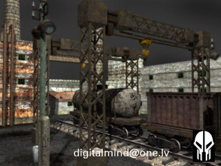 industrial zone set 3d model