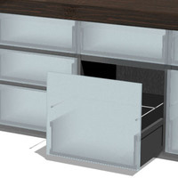 cabinets kitchen v1 3d model