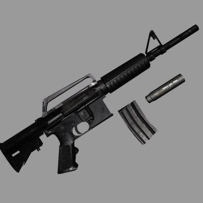 3d model m4a1 gun