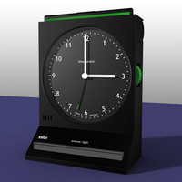 3d model braun alarm clock
