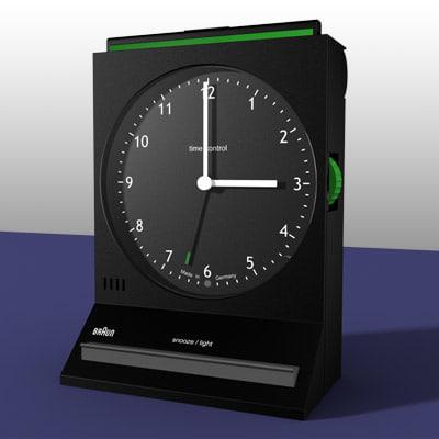3d model braun alarm clock