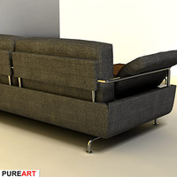 3d upholstered divan model