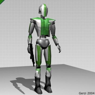 battle droid 3d model