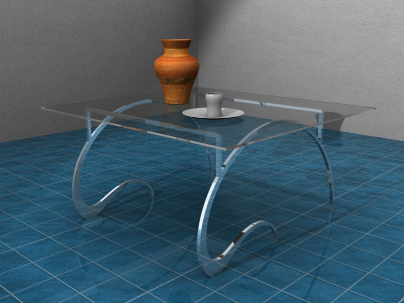 max glass table vase cup