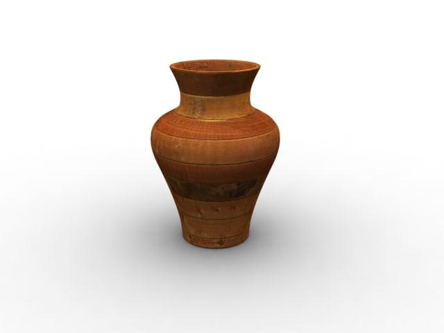 wooden vase 3d model