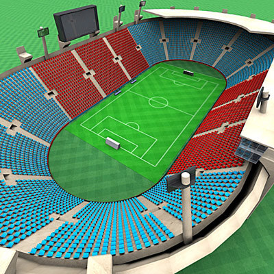 open football stadium 3d 3ds