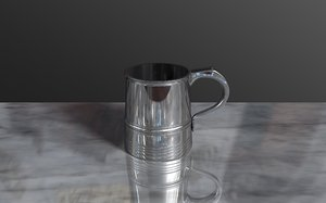 free c4d model tankard drinking chrome