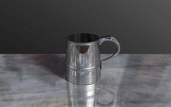 free c4d model tankard drinking chrome