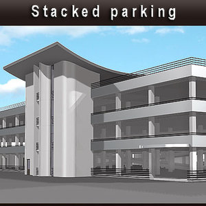 stacked parking 3d model