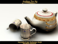max arabian tea set