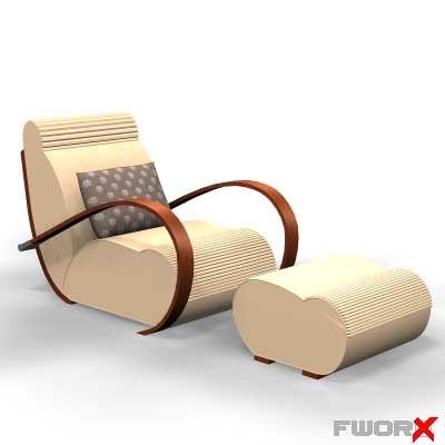 3d model chair armchair