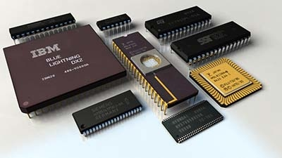 3d model computer chips cpus ram
