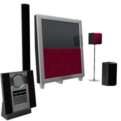 tv hifi speaker 3d model
