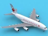 3d airbus a380-800 air canada