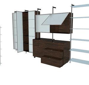 cabinets living v1 3d max
