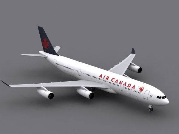 3ds max airbus a340-300 air canada