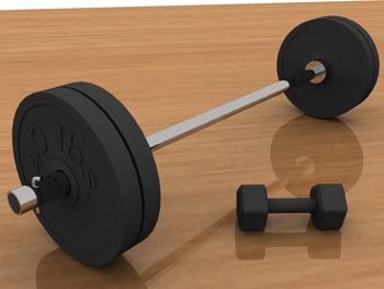 3d model weights workout