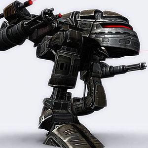 mech walker robot 3d model