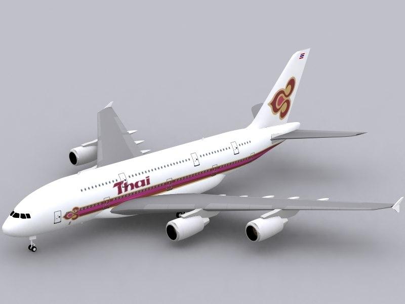airbus a380-800 thai airways max