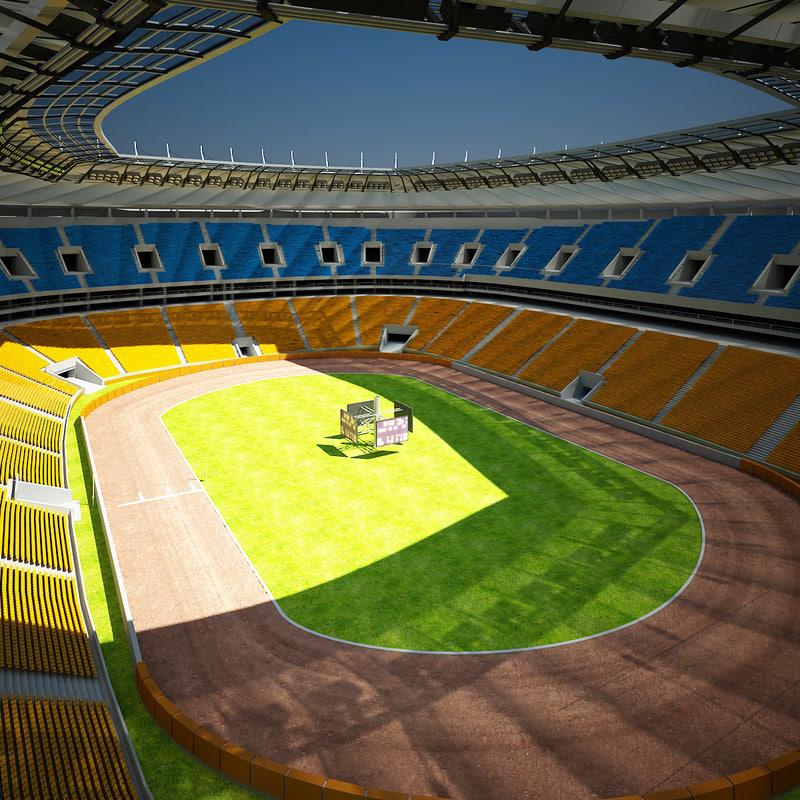 motorcycle speedway arena 3d model