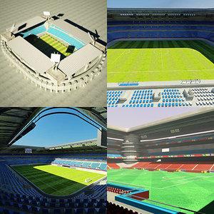 football arenas stadium soccer 3d model