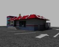 building mcdonalds 3d model