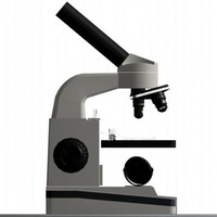 microscope glass 3d model