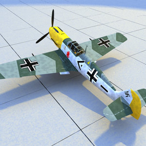messerschmitt 109 3d model