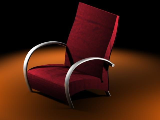 3d armchair metal