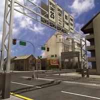 3d buildings city architecture