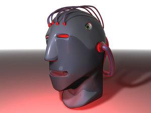 free plastic head face 3d model