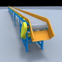 belt transporting 3d dwg