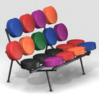 marshmallow sofa short furnitures 3d model