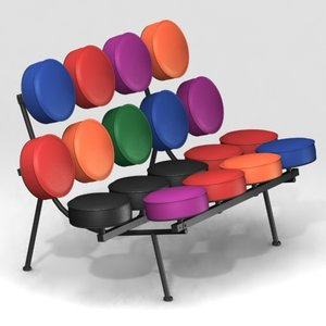 marshmallow sofa short furnitures 3d model