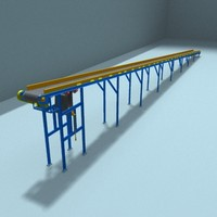 belt transporting 3d 3ds