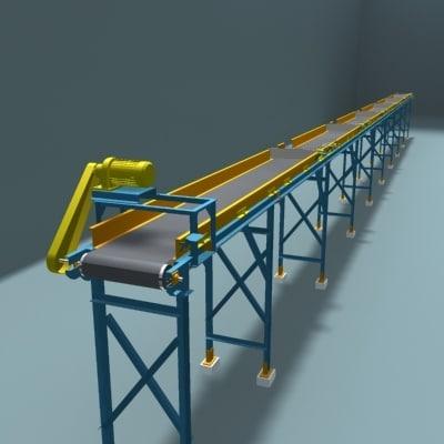 3d model belt transport