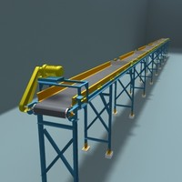 3d belt transport model