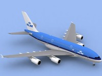 airbus a380-800 klm a380 3d 3ds