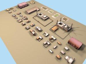 arab buildings 3d model