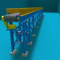 3d belt transport model
