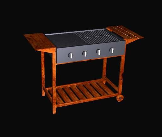 3d barbeque model