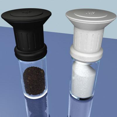 salt pepper mills 3d max